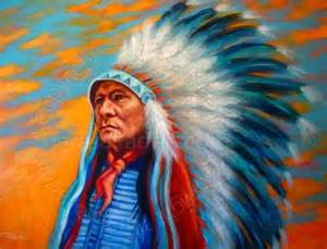 Native American Indian Chief Paintings