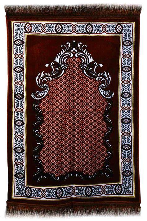 aydin janamaz plush velvet muslim prayer rug  turkey