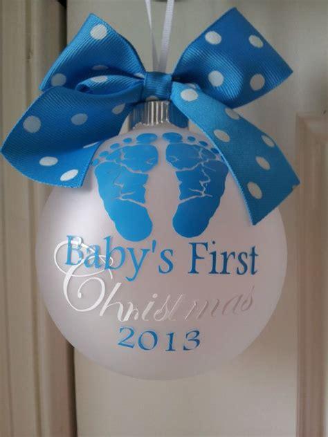 baby first christmas personalized ornament palline di natale originali 20 idee per decorare l albero di natale ideadesigncasa