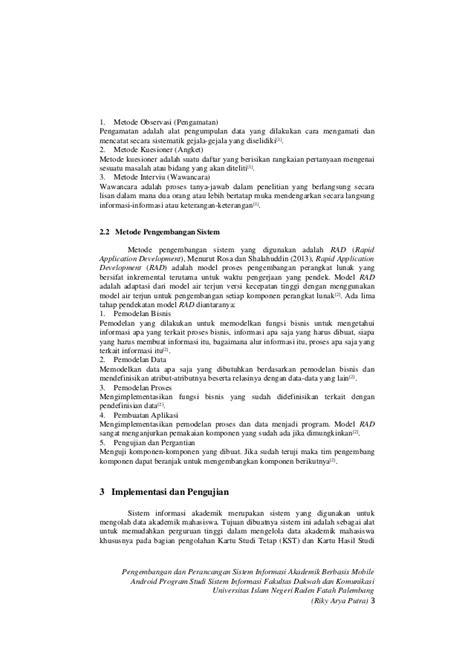 Pengembangan dan Perancangan Sistem Informasi Akademik