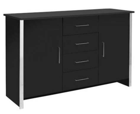 Black And Chrome Sideboard by Black And Chrome 2 Door 4 Drawer Sideboard Ebay