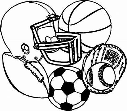 Coloring Sports Football Basketball Baseball Equipment Soccer