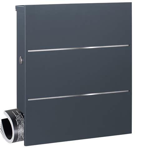 briefkasten mit zeitungsfach anthrazit mocavi box 141r design briefkasten mit zeitungsfach