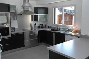 maison moderne dessin With idee deco cuisine avec modà le de cuisine Équipée en u