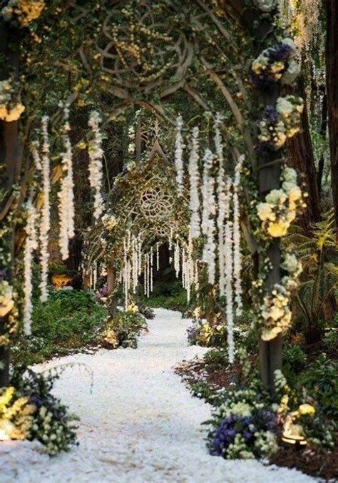 65 Romantic Enchanted Forest Wedding Ideas Outdoor