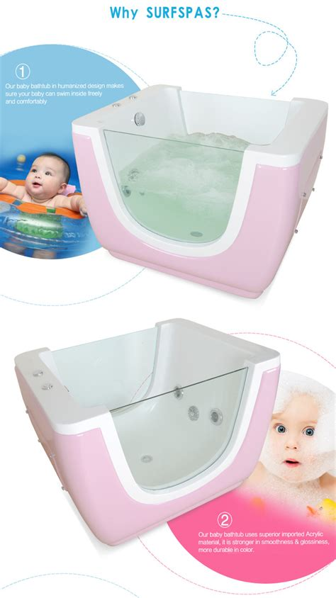 Baby Bath Tub Spa by Hydro Standing Baby Spa Bath With Glass Support
