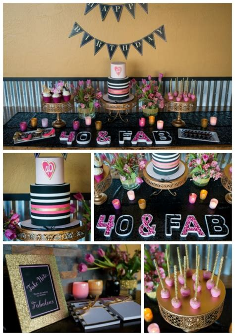 Make it authentic by adding some fruit to your mold. Glamorous 40th Birthday Party - Pretty My Party - Party Ideas