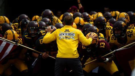 Row The Boat Minnesota Logo by Tv Recap Espn S Being P J Fleck Just Keep Rowing