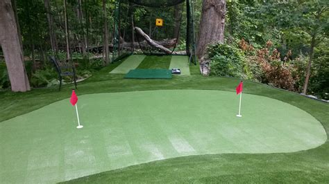 artificial putting green cost the benefits of a backyard putting green greenland turf