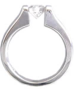 tension setting engagement ring 14k white gold cut engagement ring tension set style ban knrinc on artfire