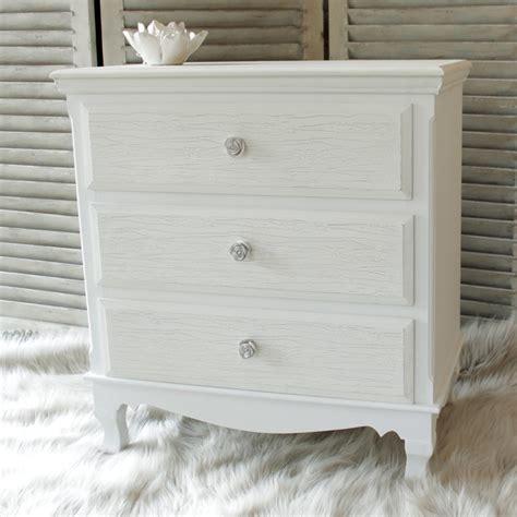 white shabby chic drawers white wood 3 drawer chest shabby vintage chic french