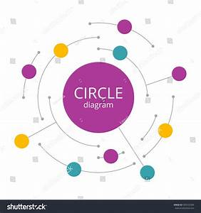 Abstract Infographics Round Line Vector Illustration Stock