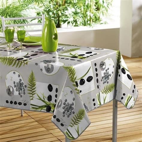 nappe toile cir 233 e rectangle 140 x 240 cm zen achat