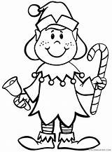 Elf Coloring Pages Coloring4free Christmas Printable Related Posts sketch template