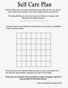 Self Care Plan Template by Self Care Time On And Sleep On
