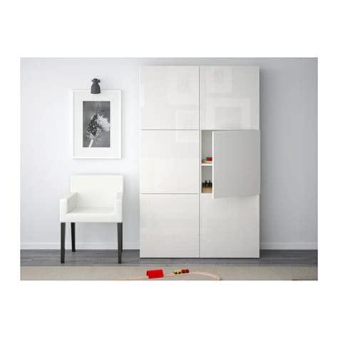 Ikea Besta Cupboard by Best 197 Storage Combination With Doors White Selsviken