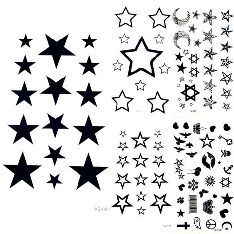 tatouage temporaire etoile achat vente pas cher