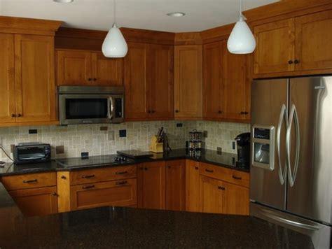 brookhaven cabinets maple wood  nutmeg stain