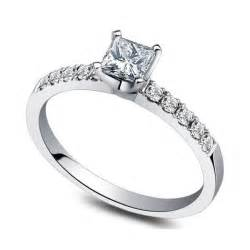 cheap white gold engagement rings inexpensive 0 50 carat princess engagement ring on 9ct white gold jeenjewels