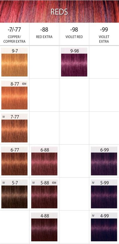 schwarzkopf hair color chart the 25 best schwarzkopf hair color chart ideas on