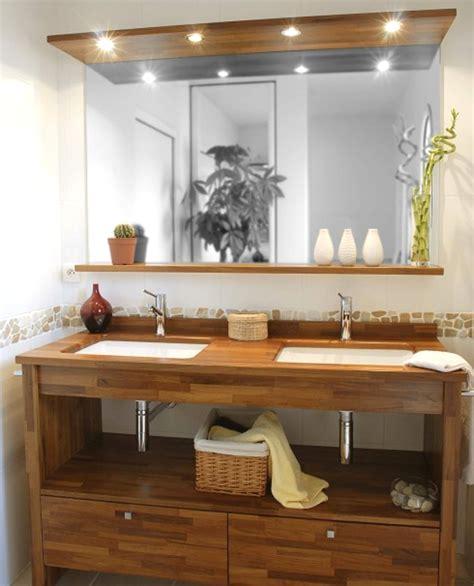 meuble de salle de bain en solde leroy merlin meuble de salle bain bois et blanc peinture salon pour