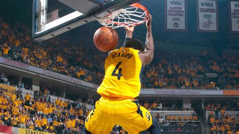 oladipo dunks  james pacers blow cavs   game
