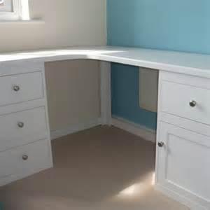 White Corner Desk with Drawers