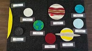 Munchkin and Bean: Solar System Felt Board