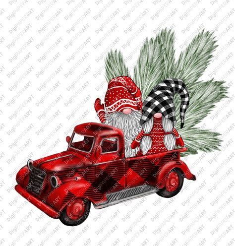 414 free srd garden gnome clipart clipart in ai, svg, eps or psd. Red Buffalo Plaid Christmas Truck Clip Art, Christmas ...