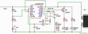 Broken Wire Detector Circuit Using Ic Cd4069