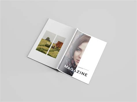 Photorealistic magazine mockup from graphicburger. A4 Magazine Mockup Free - Masa Design