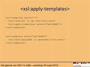 het gebruik van xslt in adlib With xsl apply templates