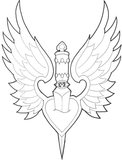 21 best Heart With Wings And Dagger Tattoo Images images