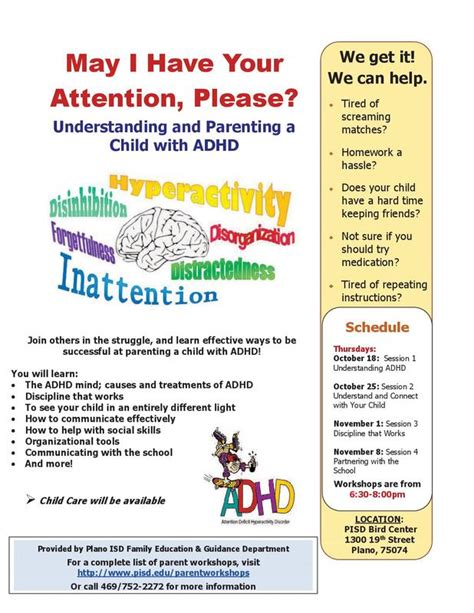 parent education understanding parenting child adhd fall