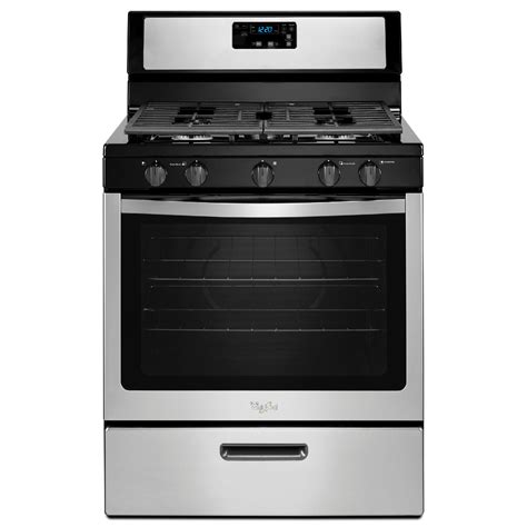 gas cooktop stove whirlpool wfg505m0bs 5 1 cu ft gas range w griddle