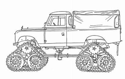 Rover Land Defender Drawing Landrover Fahrzeuge Discovery