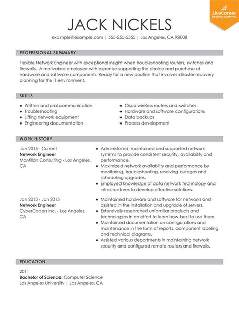 Resume Format by 9 Best Resume Formats Of 2019 Livecareer
