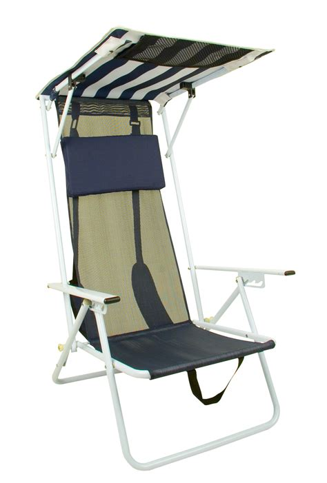 kmart chairs with canopy quik shade folding chair striped navy blue