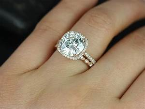 lovely rose gold cushion cut engagement rings 15 halo With wedding band to go with cushion cut ring