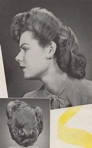 """""""Spring coiffure"""". American Hairdresser magazine, 1944 ..."""
