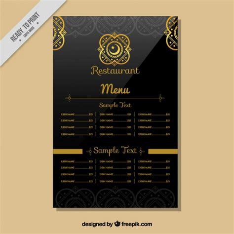 modele cuisine cagne restaurant indien modèle de menu télécharger des