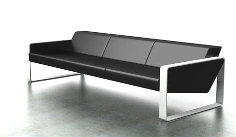 Modern Office Sofas by Contemporary Office Sofa In Leather 3 Seater S Cabin