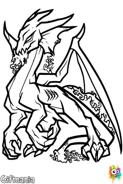 adult dragon coloring page