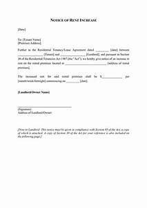 best photos of rent increase document rent increase With free rent increase form letter