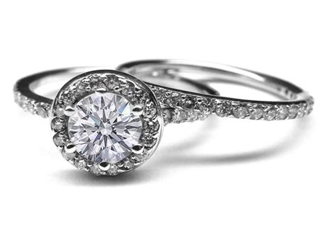 Engagement Ring -vintage Style Diamond Halo Engagement