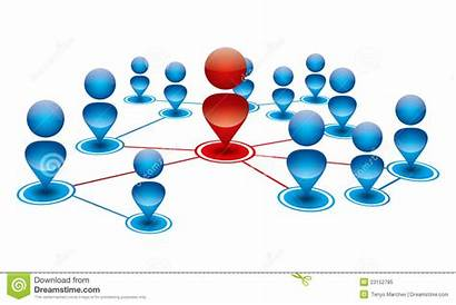 Connection Social Network Illustration Representing Royalty Vector