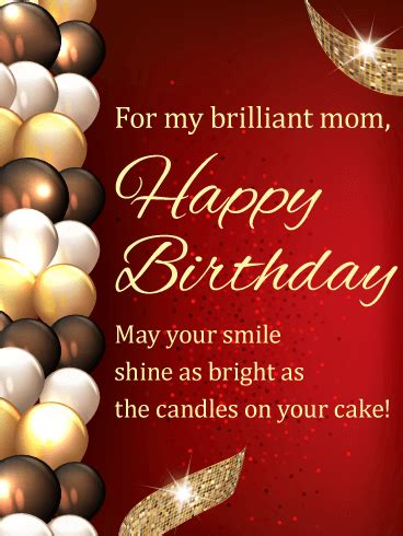 stylish birthday balloon card  mom birthday