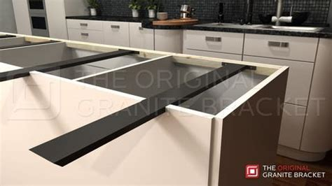 floating granite countertop brackets how to your kitchen countertop the appearance of