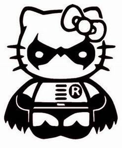 Hello Kitty Autoaufkleber : hello kitty batman decal picture idea for chys birthday party since she is asking for both ~ Orissabook.com Haus und Dekorationen
