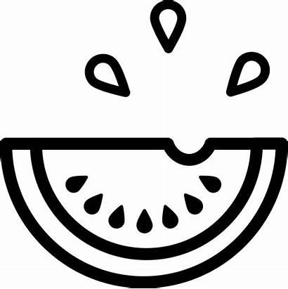 Watermelon Outline Fruit Slice Icon Drops Fruits